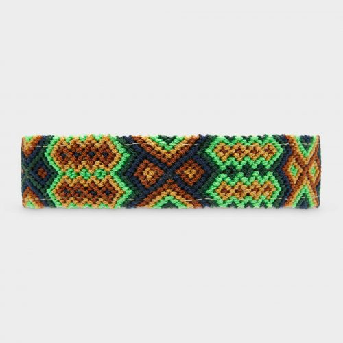 Handmade dog collar isolated on the white background
