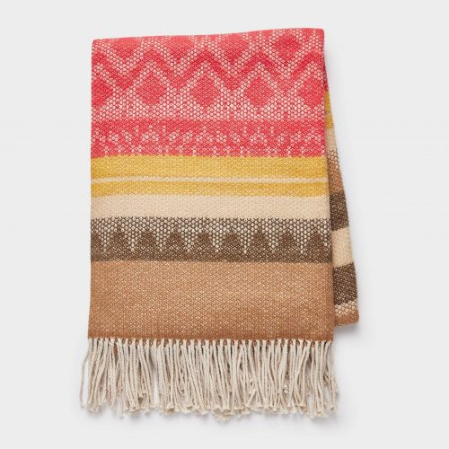 peruvian cozy blanket isolated on a white background